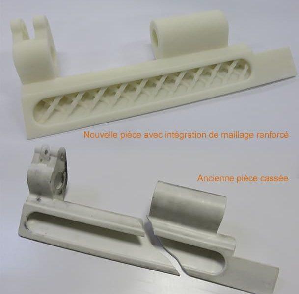 Remplacement de pièce fonctionnelle cassée grâce à l'impression 3D par frittage laser