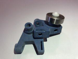 Nouveau module de bande pour test fonctionnel avec un PA12 Bleu teinté dans la masse grâce à l'utilisation d'une charge colorée