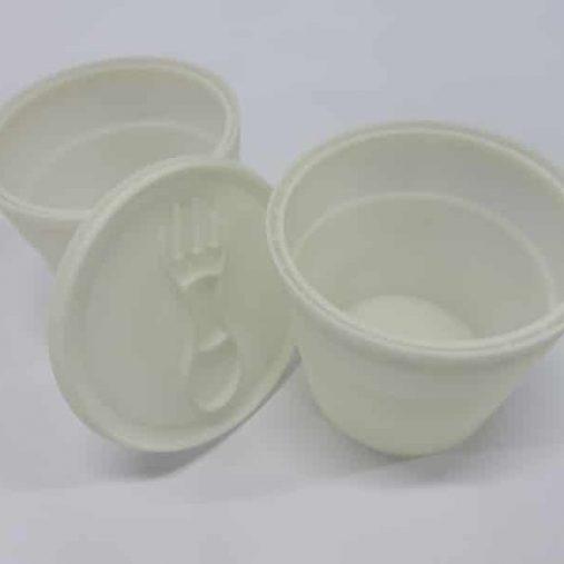 Prototype pots avec couvercle pour emballage avec parois d'épaisseur 0.5mm